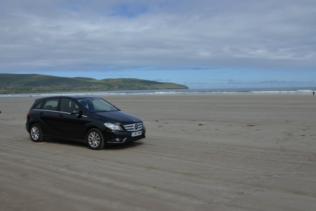 A drive on the beach in Ireland