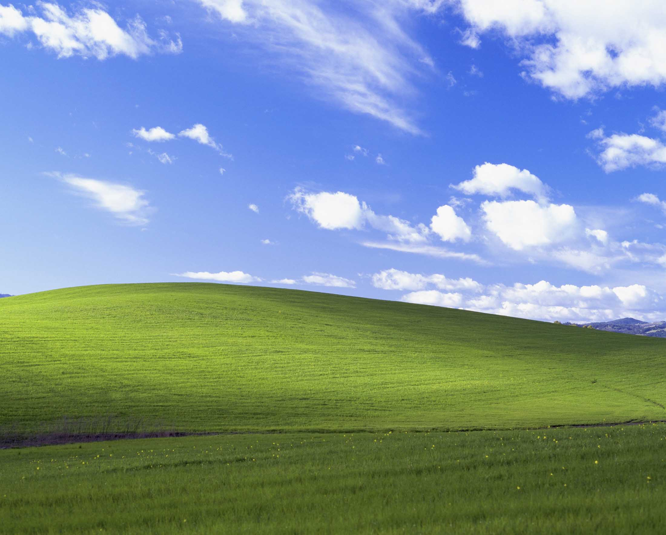 "The original. ""Bliss"" by Charles O'Rear for Windows XP"