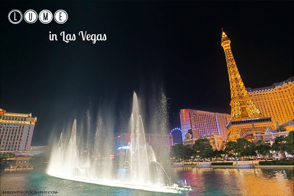Bellagio fountain, and the Paris Hotel