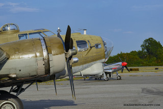 B-17 and P-51